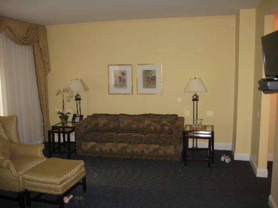 pull-out couch across from king bed: From Review: Awesome location and a