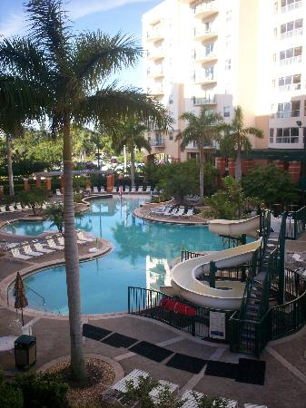 Wyndham Palm-Aire: the pool from our balcony