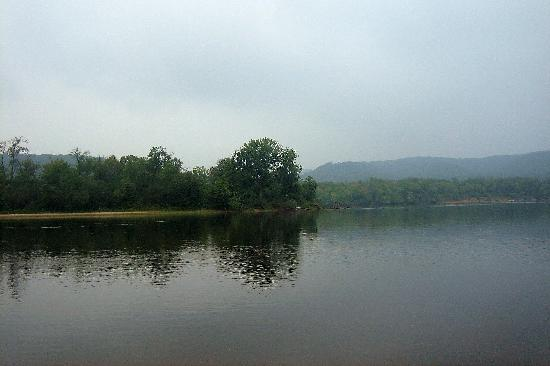 Misty Day on the Wisconsin River at Mazomanie Beach