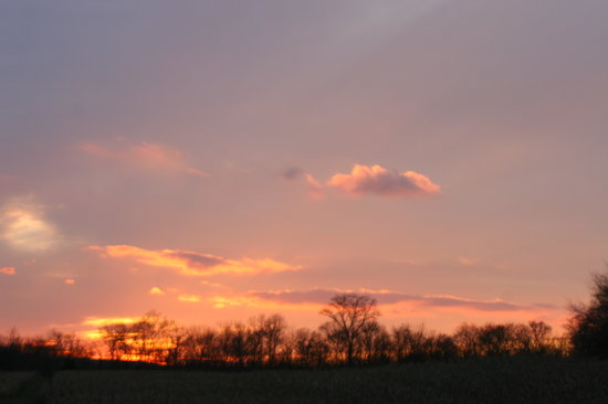 Gettysburg, Pennsylvanie : Sunset early winter