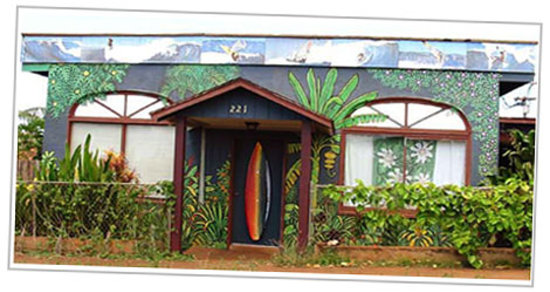 Rainbow Surf Hostel Road Frontage