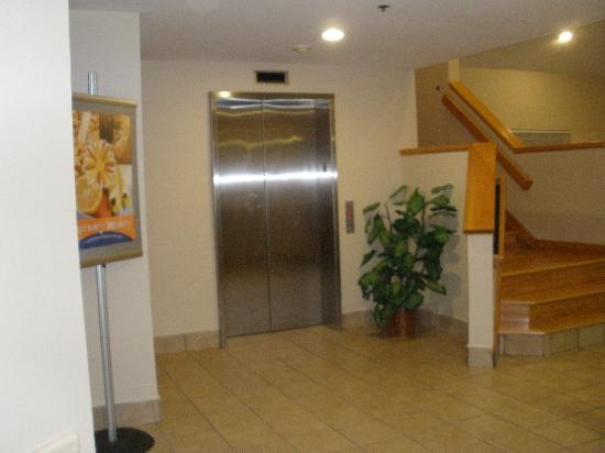 Sleep Inn: elevator lobby