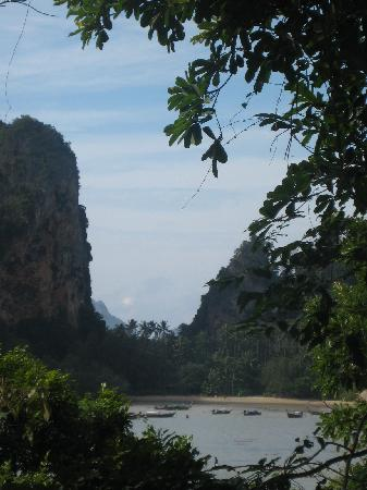 Railay Garden View Resort: view from breakfast table