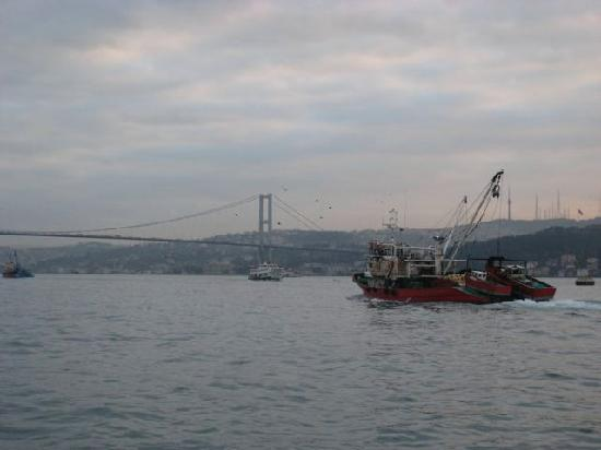 Four Seasons Istanbul at the Bosphorus: View from the outdoor terrace.