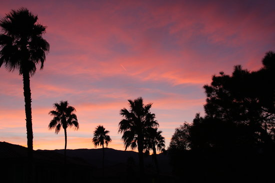 Marriott's Desert Springs Villas II: Sunset in the desert