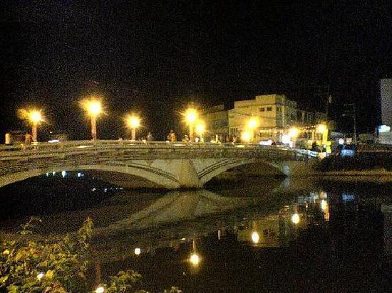 Roxas City, : bridge at night