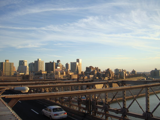 New York City, NY: NYC - view from Brooklyn Bridge
