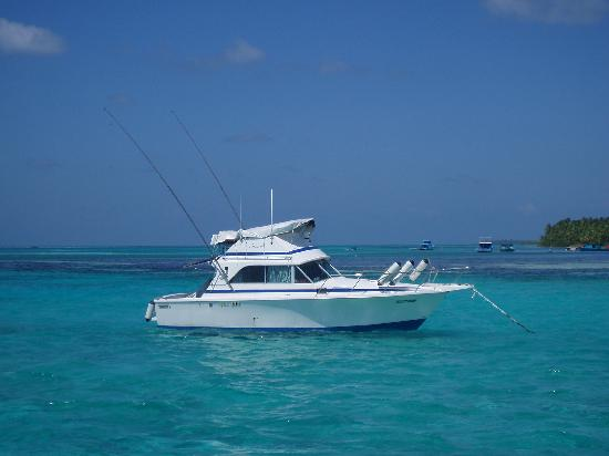 Big game fishing boat picture of medhufushi island for Boat fishing games