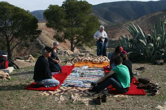 Picninc in the Atlas mountains arranged by Riad Aguerzame