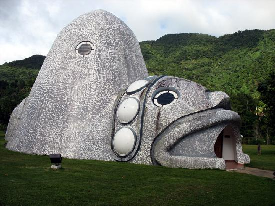 Jayuya, Puerto Rico: The Cemi shaped museum.