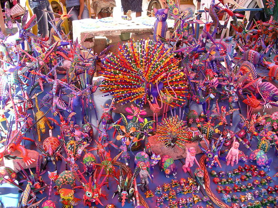 Oaxaca, Mexico: Alebrijes mexicanos, taller de Don Melchor (RIP) en Mitla