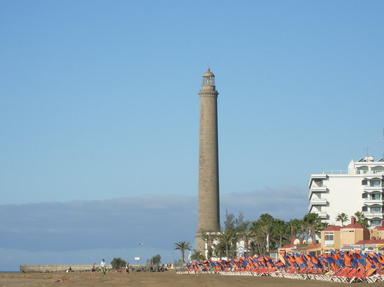 Maspalomas, Spanien: Leuchtturm an den Dnen