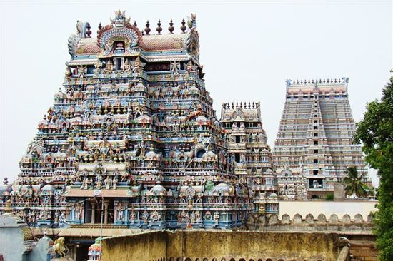 Tiruchirappalli, India: Gopurams Temple Gate Towers