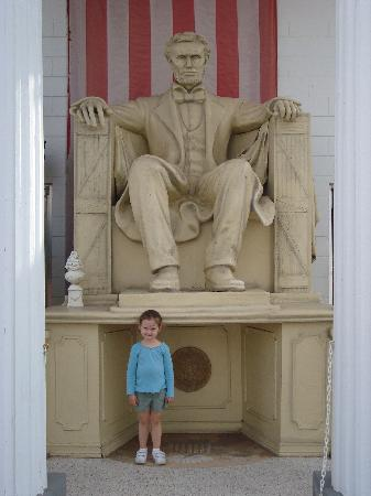 , : Outside the museum...the Lincoln monument replica