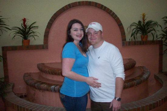 The Inn At Claussen's: Me and my hubby in the lobby