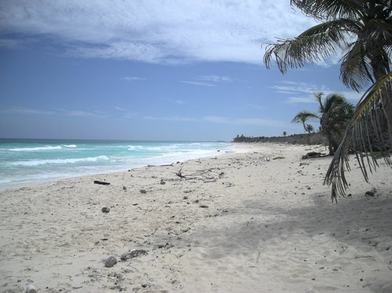 Playa del Carmen, Mexico: beach on Boca Paila Peninsula