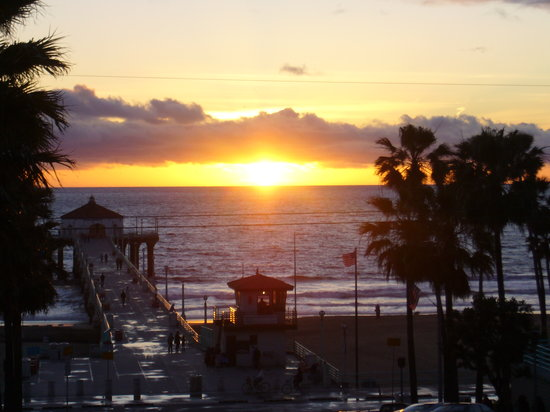 Manhattan Beach Sunset over Pier