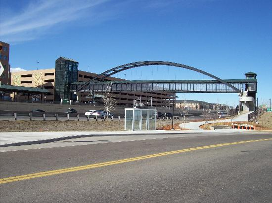 Candlewood Suites Meridian Business Center: Bridge to light rail station, 4 minute walk.