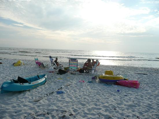 The end of a great day on the beach picture of port for Cape san blas fishing report
