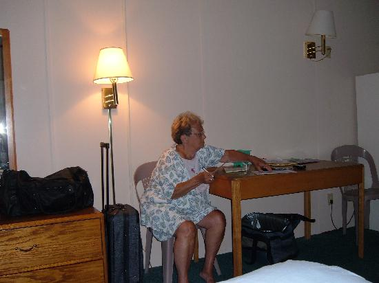 The Beachmark Motel: Mom in our room