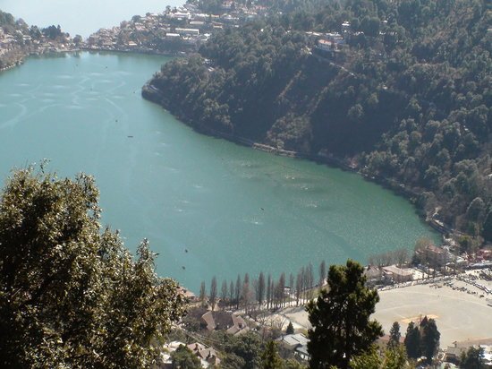 Nainital lake from above