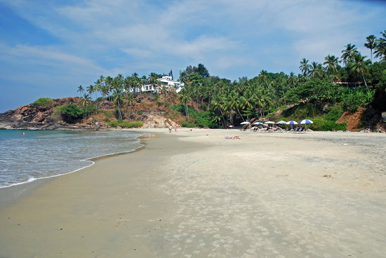 Kovalam, India: lighthouse beach north