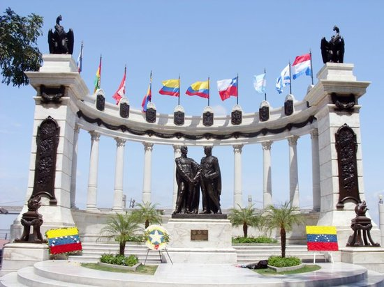 Guayaquil, Ekvador: estatua de Bolivar y San Martin