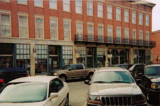 Galena, IL: DeSoto balcony where Pres. Lincoln delivered a speech from in 1856