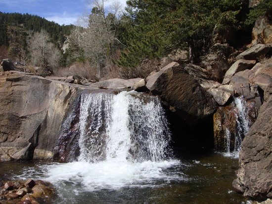 Boulder, CO: waterfall early in the trail
