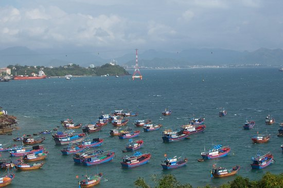 Nha Trang, Vietnam : Waiting out the storm in Nah Trang Harbour