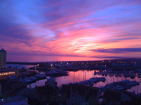 Vilamoura, Portugal: Sunset from the balcony :D