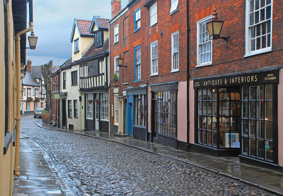 Elm Hill, Norwich.  No visit to Norwich would be complete without a visit here.  Don&#39;t forget to