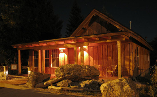 Lava Hot Springs, ID: Night Lights at Rustic Inn