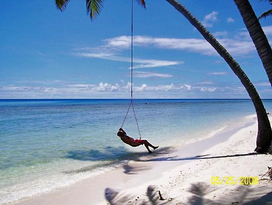 Look out for the swing over the sea up from water villas for Swing over water