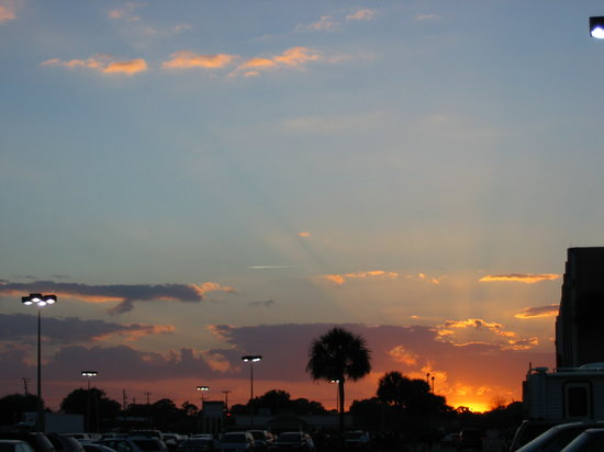 The sun sets over Titusville ...