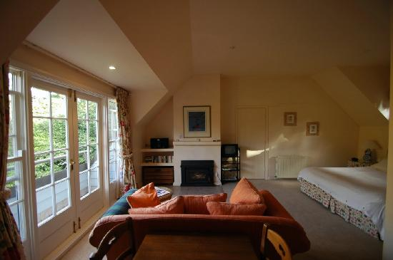 A wide-angle view of a loft B&B at Parklands