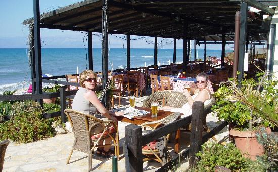 Typical beach side taverna - Acharavi beach