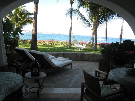One & Only Palmilla Resort: Patio on our room
