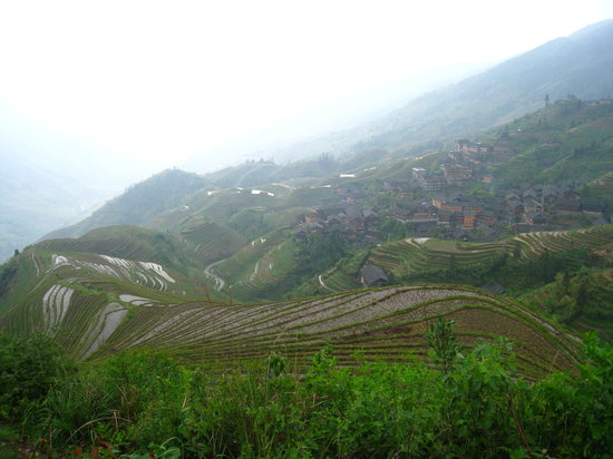 Longsheng County, Kina: View Point 1 - At the  top