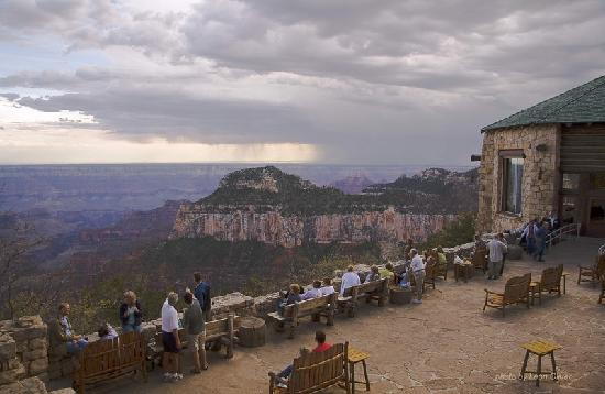 North Rim Campground: Grand Canyon Lodge patio