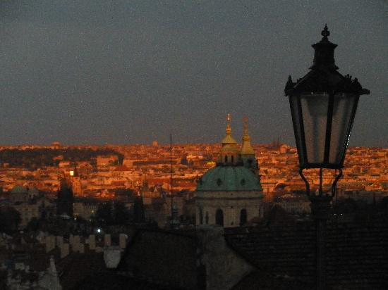 Pension 44: Evening view from castle