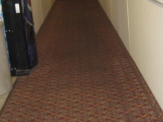 America&#39;s Best Value Inn Fredericksburg: Dirt stained carpet in hallway