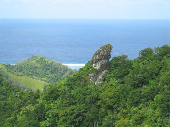 Ραροτόνγκα, Νήσοι Κουκ: View from the top of the cross-island trek