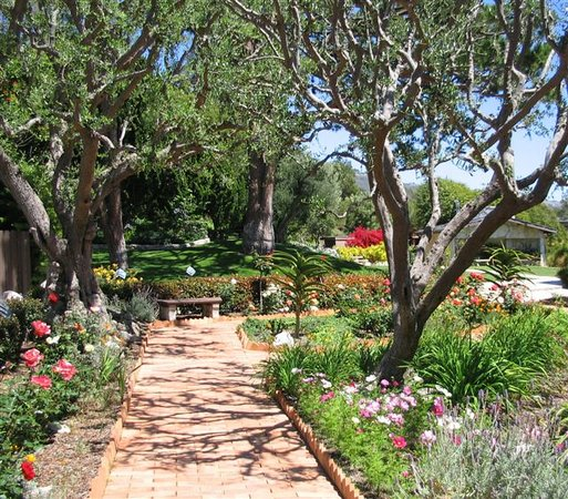 Rancho Palos Verdes, Kalifornien: Along the walkways, lined with roses