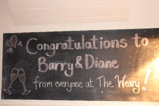 The Weary: Message on the specials board!