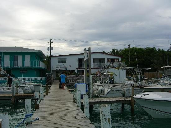 Bimini: View of Weech's  rooms from their dock