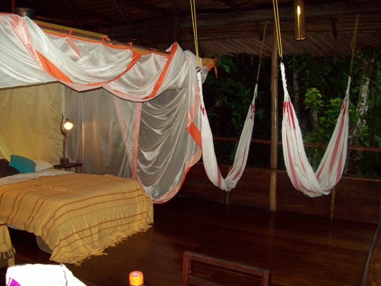 La Loma Jungle Lodge and Chocolate Farm: Inside the cabana