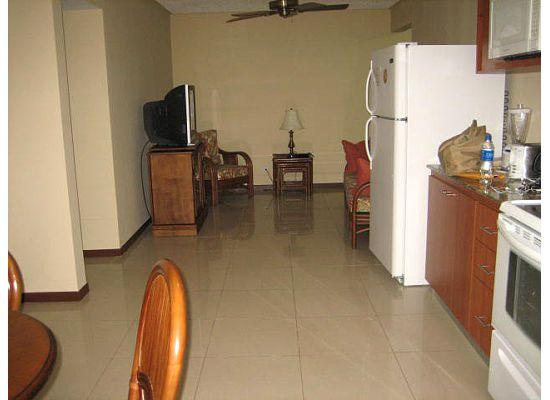 Costa Linda Condominiums: Inside the condo (view of living room from dining/kitchen area)