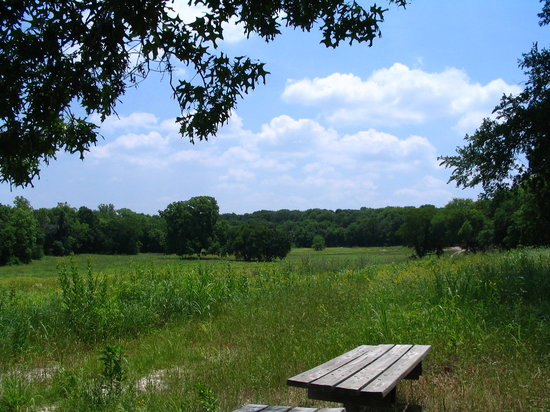 McKinney, TX: The First Sitting Area on the BlueStem Trail