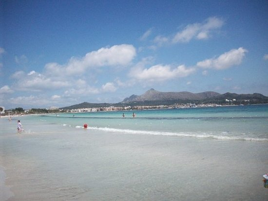 Sol Alcudia Center Apartamentos : the beach very close to hotel